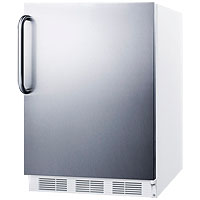 5.5 Cu. Ft. ADA Refrigerator - White Cabinet / Stainless Steel Door & Handle