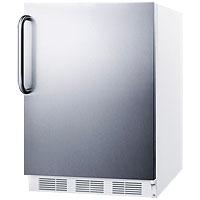 Summit AL750SSTB - White Cabinet / Stainless Steel Door & Handle