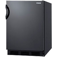 Summit AL752B - Black Cabinet & Solid Door