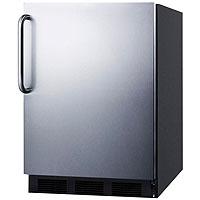Summit AL-752BSSTB - Black Cabinet / Stainless Steel Door & Handle