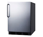 Summit AL-752BSSTB - Black Cabinet / Stainless Steel Door & Handle