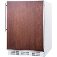 ADA All Refrigerator - White with Stainless Steel Frame Door & Handle