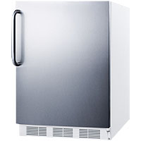 Summit ALF620SSTB - White Cabinet / Stainless Steel Door & Handle
