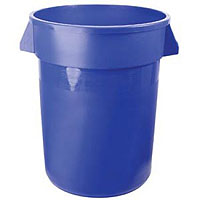 Brute - 32 Gallon Blue Keg Bucket with Plastic Handles