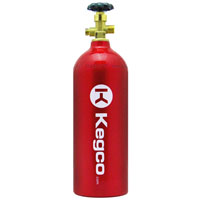 5 lb. Aluminum Co2 Tank with Electric Red Epoxy Finish for Kegerator and Draft Beer Dispensing