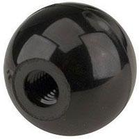 Black Plastic Ball Beer Faucet Knob Tap Handle