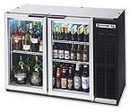 Beverage-Air BB48GY-1-B Back Bar Refrigerator w/Glass Doors - Black