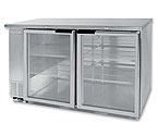 Beverage-Air BB58G-1-S Back Bar Refrigerator w/Glass Doors - Stainless Steel
