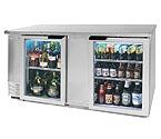 Beverage-Air BB68G-1-S Back Bar Refrigerator w/Glass Doors - Stainless Steel
