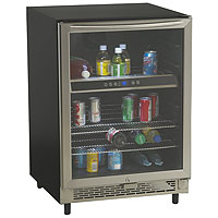 5.1 Cu. Ft. Beverage Cooler - Black with Glass Door