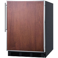 5.1 cf Built-in Refrigerator-Freezer - Black Cabinet with Stainless Steel Frame Door
