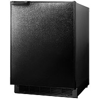 6.0 cf Built-in Refrigerator-Freezer - Black