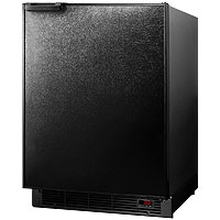 6.0 cf Built-in Auto Defrost Refrigerator-Freezer - Black