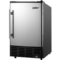 10 lbs. Built-in Ice Maker - Black Cabinet with Platinum Door