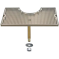 Stainless Steel Zeus Tower Surface Mount Drip Tray