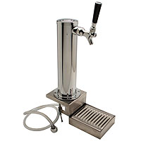Chrome ABS Plastic Single Faucet Clamp-On Draft Beer Tower