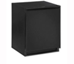 U-Line CLRCO2175B-40 2000 Series Clear Ice Maker / 2.5 Cu. Ft. Refrigerator - Black Cabinet with Black Door - Drain Pump