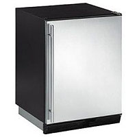 1000 Series Ice Maker/Refrigerator - Black Cabinet with Stainless Steel Door - Left Hinge
