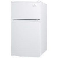 3.0 Cu.Ft. Two Door Compact Refrigerator-Freezer - White