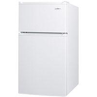 2.9 Cu. Ft. ADA Compliant - Two Door Compact Refrigerator-Freezer - White