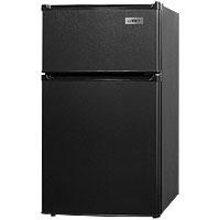 LAST ONE!  2.9 Cu. Ft. Two Door Compact Refrigerator Freezer, ADA Complient - Black