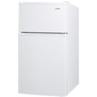 Compact Two-Door Refrigerator-Freezer w/Side Locks - White