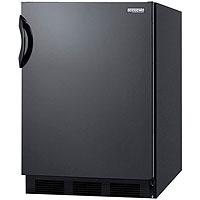 5.3 cf Undercounter Refrigerator-Freezer - Black