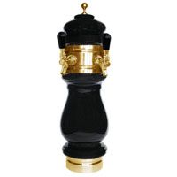 Silva Ceramic Double Faucet Draft Beer Tower - Black with Gold Accents