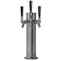 Polished Stainless Steel 3-Faucet Beer Tower - 3