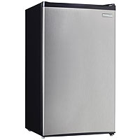 3.2 Cu.Ft. Compact Refrigerator - Black with Stainless Steel Door