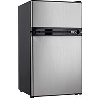 Danby DCRM31BSLDD 3.0 Cu. Ft. Dual Door Compact Fridge with Freezer