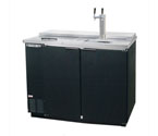 Beverage-Air Kegerator DD50C-B Club Top 2-Keg Beer Cooler - Black Vinyl