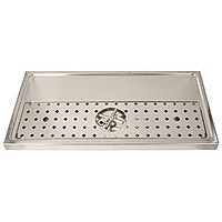 Stainless Steel Rinser Drain Drip Tray - 31-1/2