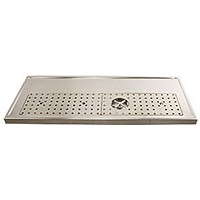 Stainless Steel Rinser Drain Drip Tray - 47-1/4
