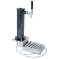 Black ABS Plastic Single Faucet Clamp-on Draft Beer Tower with Drip Tray