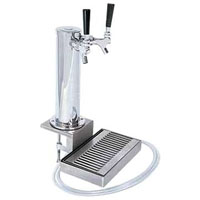 Chrome ABS Plastic Dual Faucet Clamp-on Beer Tower