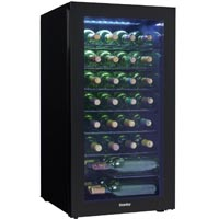 36-Bottle Freestanding Black Wine Cooler