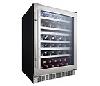 Danby Silhouette Professional DWC053D1BSSPR 51 Bottle Dual Zone Built-In Wine Refrigerator