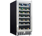 Danby Silhouette  DWC93BLSST 34 Bottle Built-In Wine Cooler