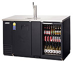 Everest EBD3-BBG Back Bar & Direct Draw Commercial Keg Refrigerator with Solid & Glass Doors