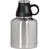 24 Screw Cap Customizable Beer Growlers - 32 oz Double Wall Stainless Steel with Brushed Finish