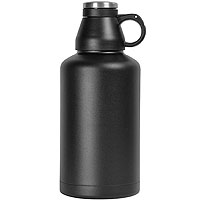 The Wolf - 64 oz Double Wall Stainless Steel Scew Cap Beer Growler with Black Finish
