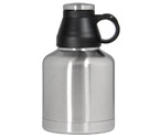 Kegco EBG-32SS Screw Cap Beer Growler - 32 oz Double Wall Stainless Steel with Brushed Finish