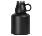 Kegco EBG-32B Screw Cap Beer Growler - 32 oz Double Wall Stainless Steel with Black Finish