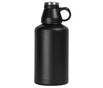Kegco EBG-64B Screw Cap Beer Growler - 64 oz Double Wall Stainless Steel with Black Finish