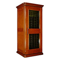 European Country Euro 1400 172-Bottle Wine Cellar - Provincial Cherry Finish