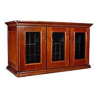 European Country Euro Credenza 180-Bottle Wine Cellar - Provincial Cherry Finish