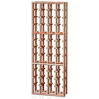 Redrack 4 Column 48 Individual Bottle Redwood Modular Wine Rack