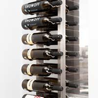Floor-To-Ceiling Mounted Frame for Magnum Bottles - Black Satin Finish
