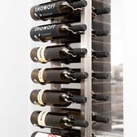 Floor-To-Ceiling Mounted Frame for Magnum Bottles - Brushed Nickel Finish